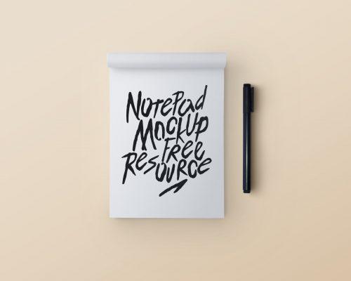 Notepad & Pen Mockup