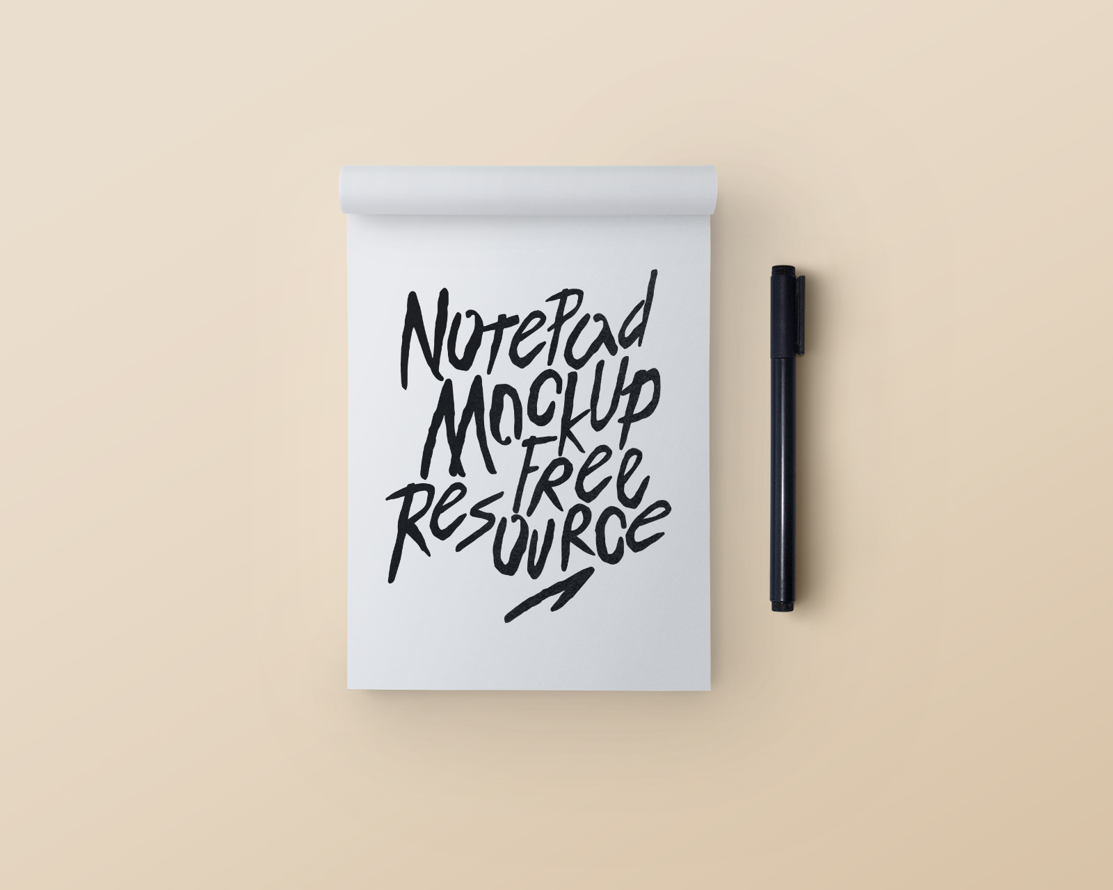 Notepad & Pen Mockup