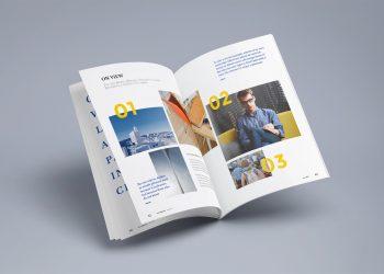 Open Photorealistic Magazine Mockup PSD