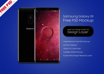 Samsung Galaxy S9 Front & Back Mockup PSD