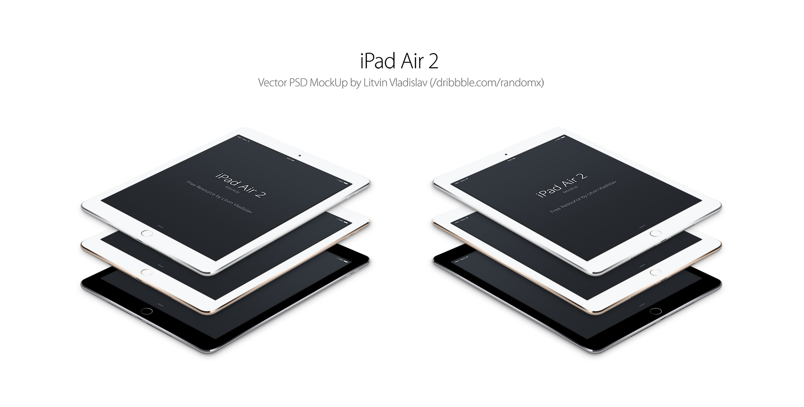 iPad Air 2 Perspective Mockup