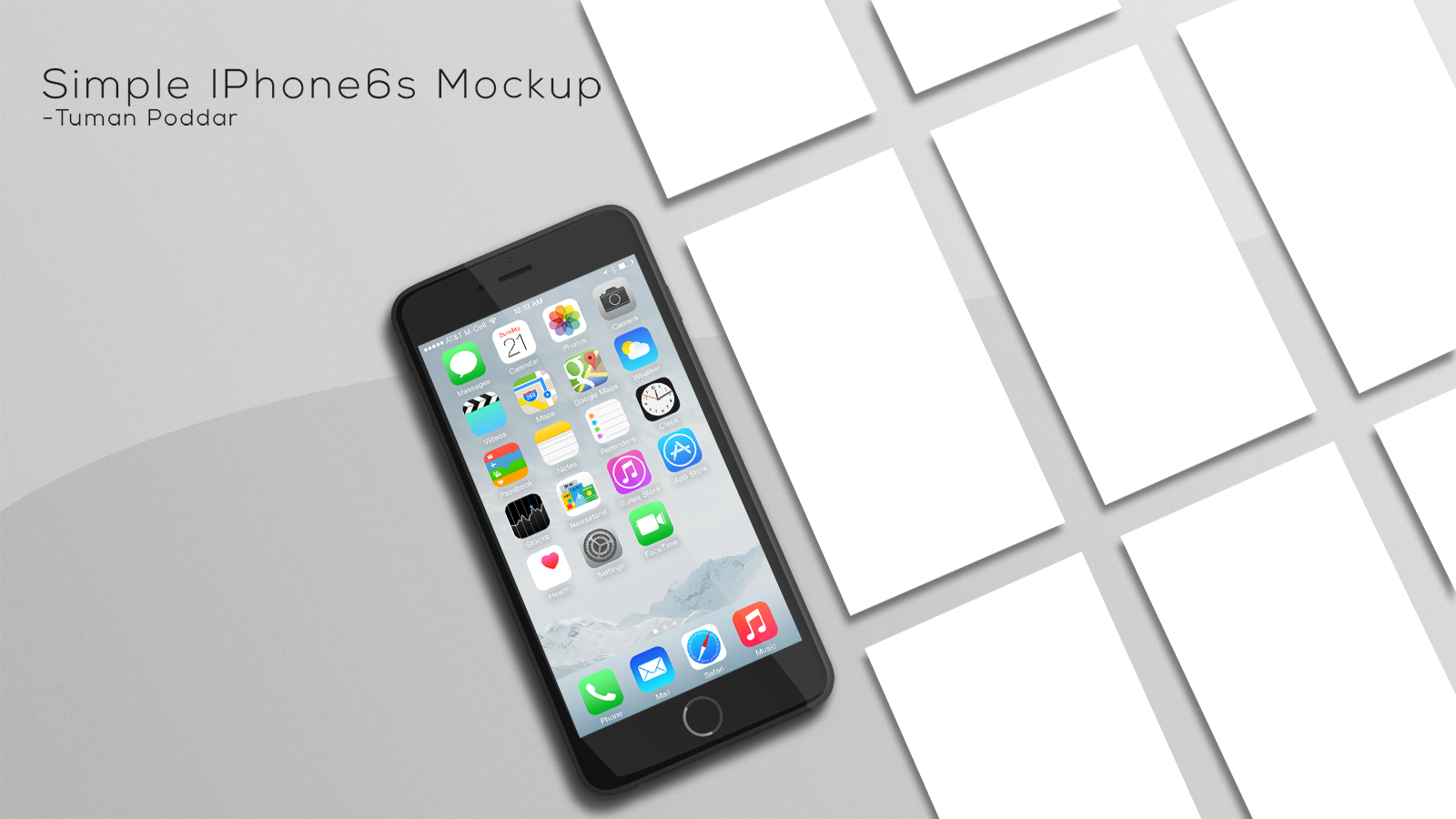 iPhone App Showcase Generator Mockup
