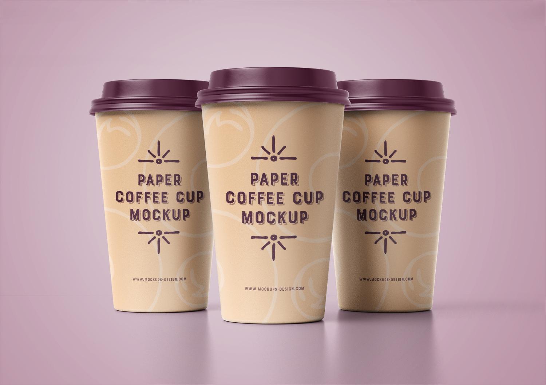 4 Paper Cup Mockup