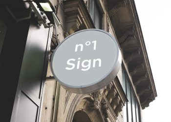 5 Signs Facades PSD Mockups