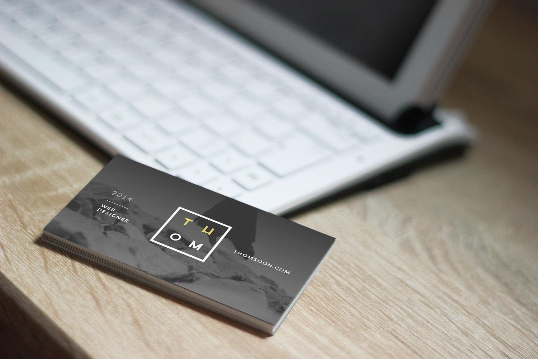 7 Clean Business Card Mockup Sets
