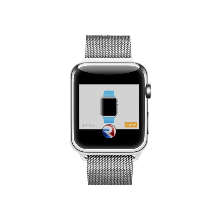 Apple Watch Silver Mockup