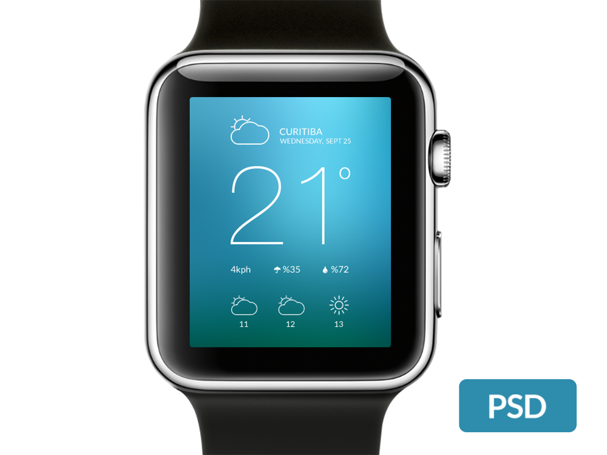 Apple Watch Template PSD Mockup
