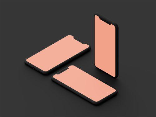 Clay iPhone X Mockup PSD
