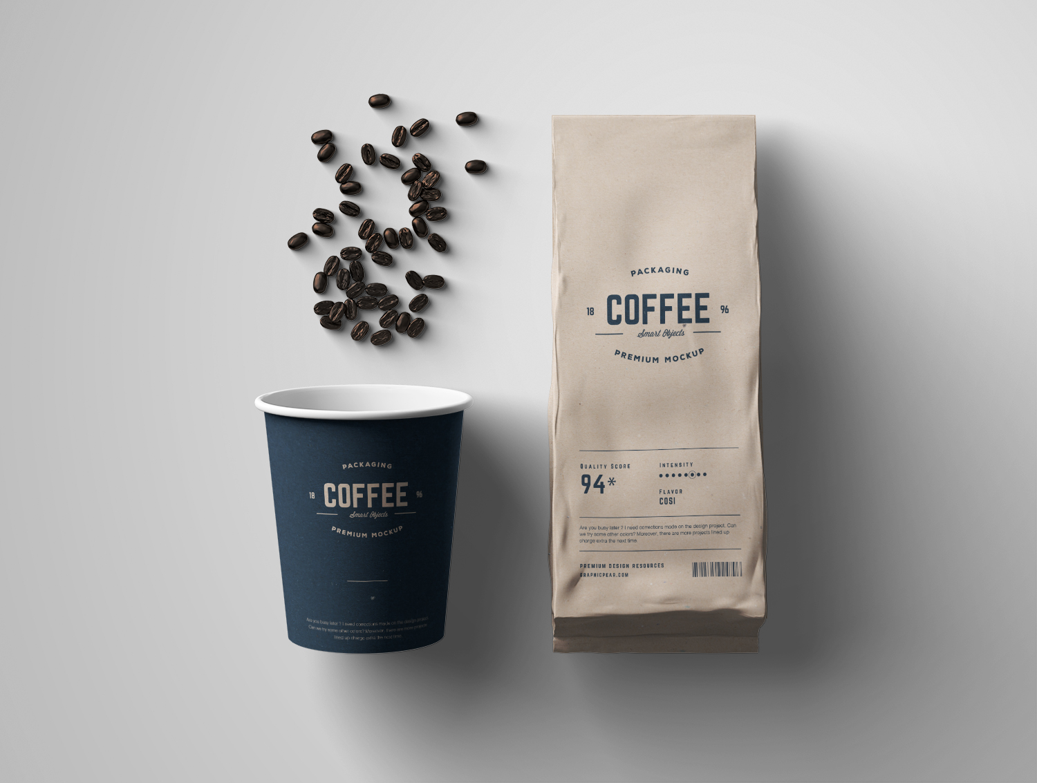 Coffee Mockup Package PSD Set