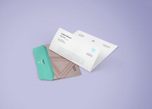 Envelope Letter Branding Mockup