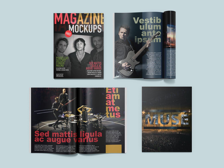Free Magazine Mockup Set