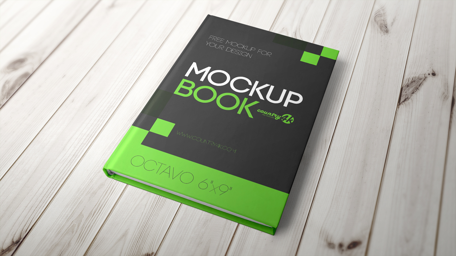 Hardcover Book Mockup Free