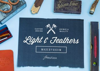 Light Feather 4 Free Mockups