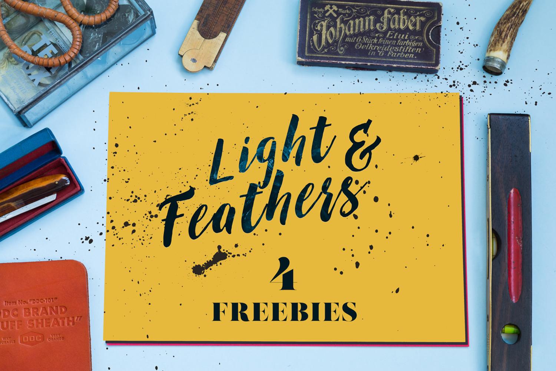 Light Feather 4 Free Mockups
