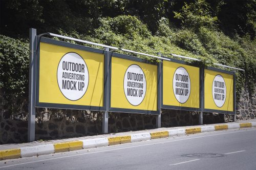 Outdoor Advertising PSD Mockups