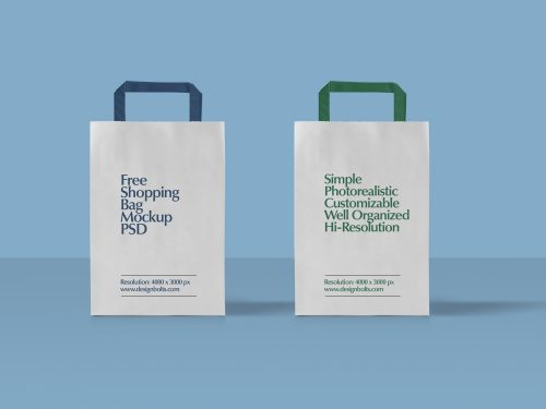 Paper Shopping Bag Packaging Mockup #2