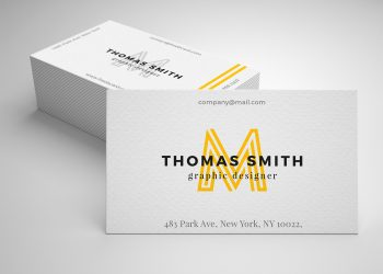 Realistic Business Card Mockup Free PSD