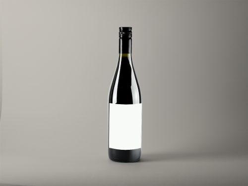 Realistic Wine Bottle Mockup