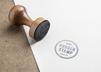 Rubber Stamp PSD Mockup Ver.2