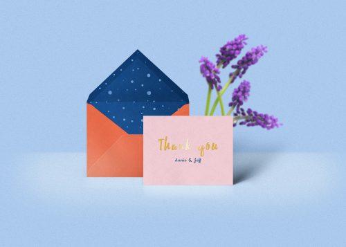 Thank You Notes Card Mockup PSD