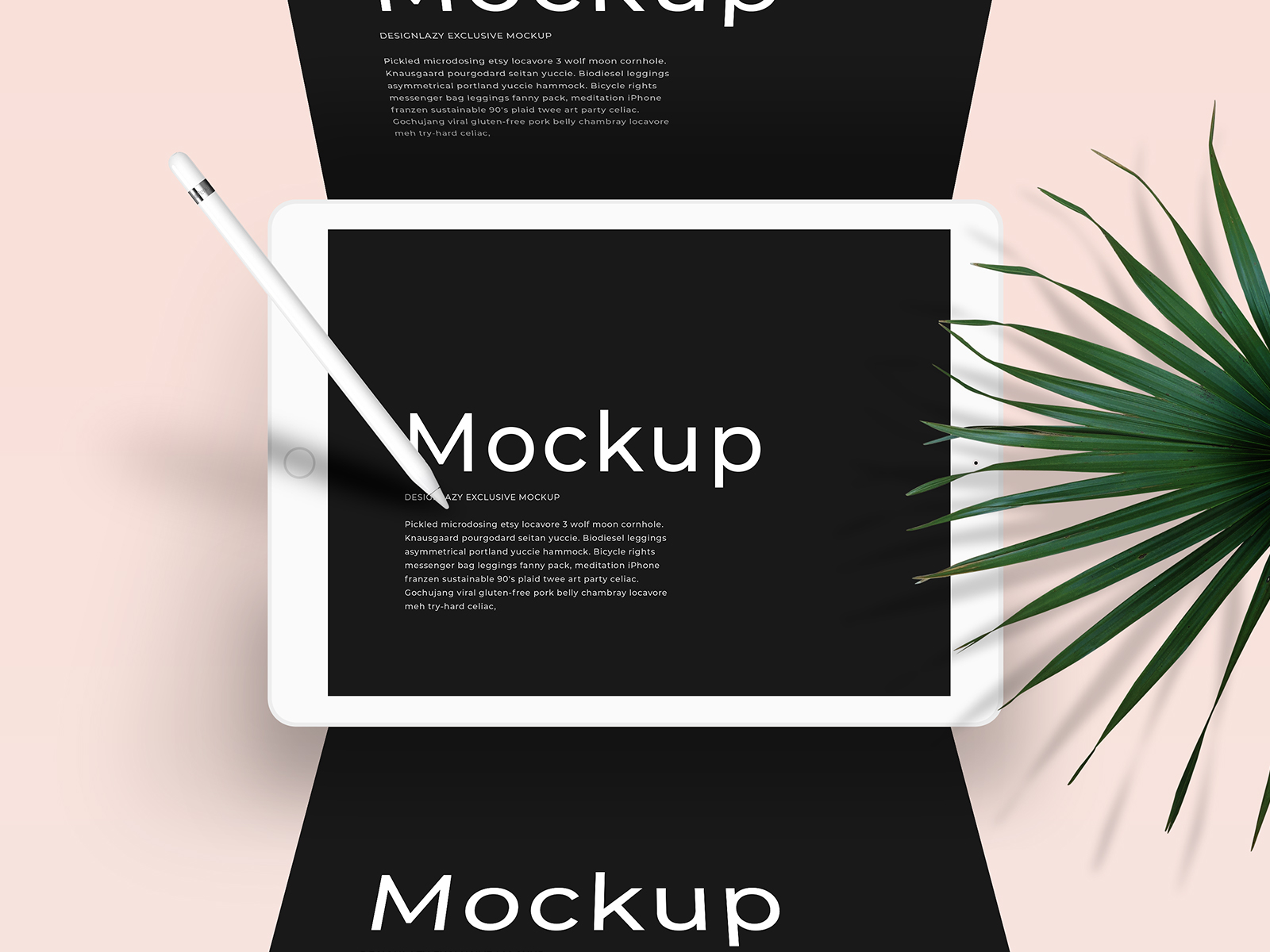 iPad Mockup Scene PSD