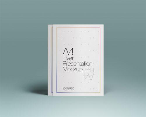 A4 PSD Flyer Mockup