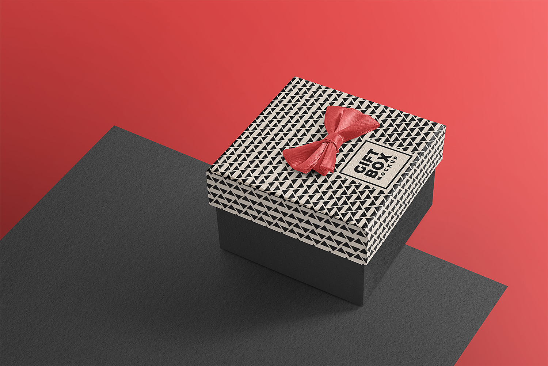 Free Beautiful Gift Box Mockup