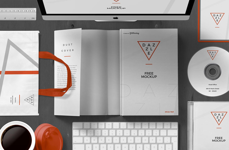 Free Book Cover Mockup Scene