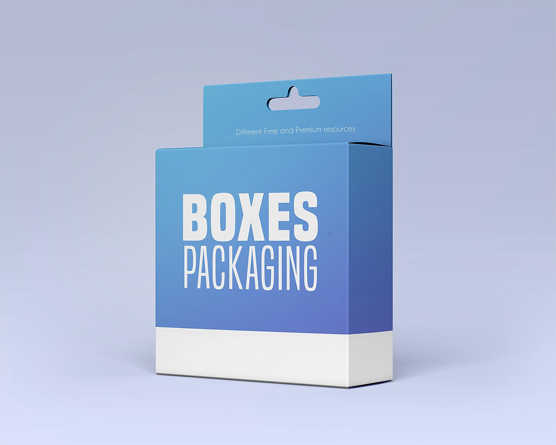 Free Box Packaging PSD Mockup Set