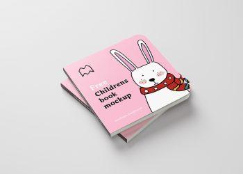 Free Children Book Mockup