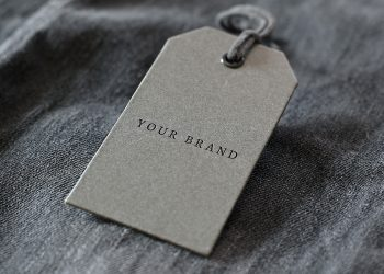 Free Denim Label Logo Mockup