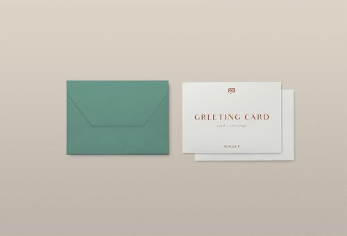 Free Greeting Card PSD Mockup
