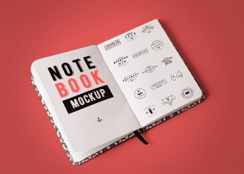 Free Open Notebook Mockup