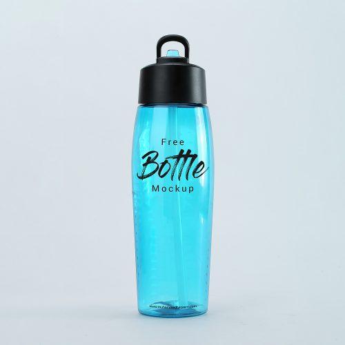 Free Water Plastic Bottle Mockup