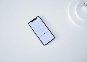 Free iPhone X Top View Mockup