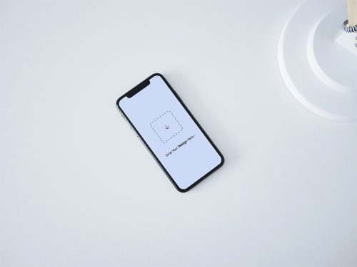 Free iPhone X Top View Mockup