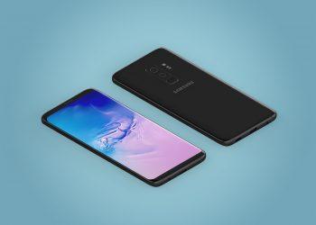 Isometric Samsung Galaxy S9 Plus Mockup