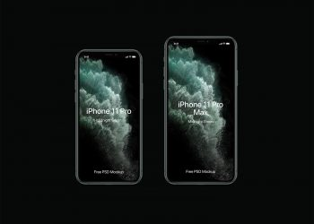 PSD iPhone 11 Pro Mockup Set