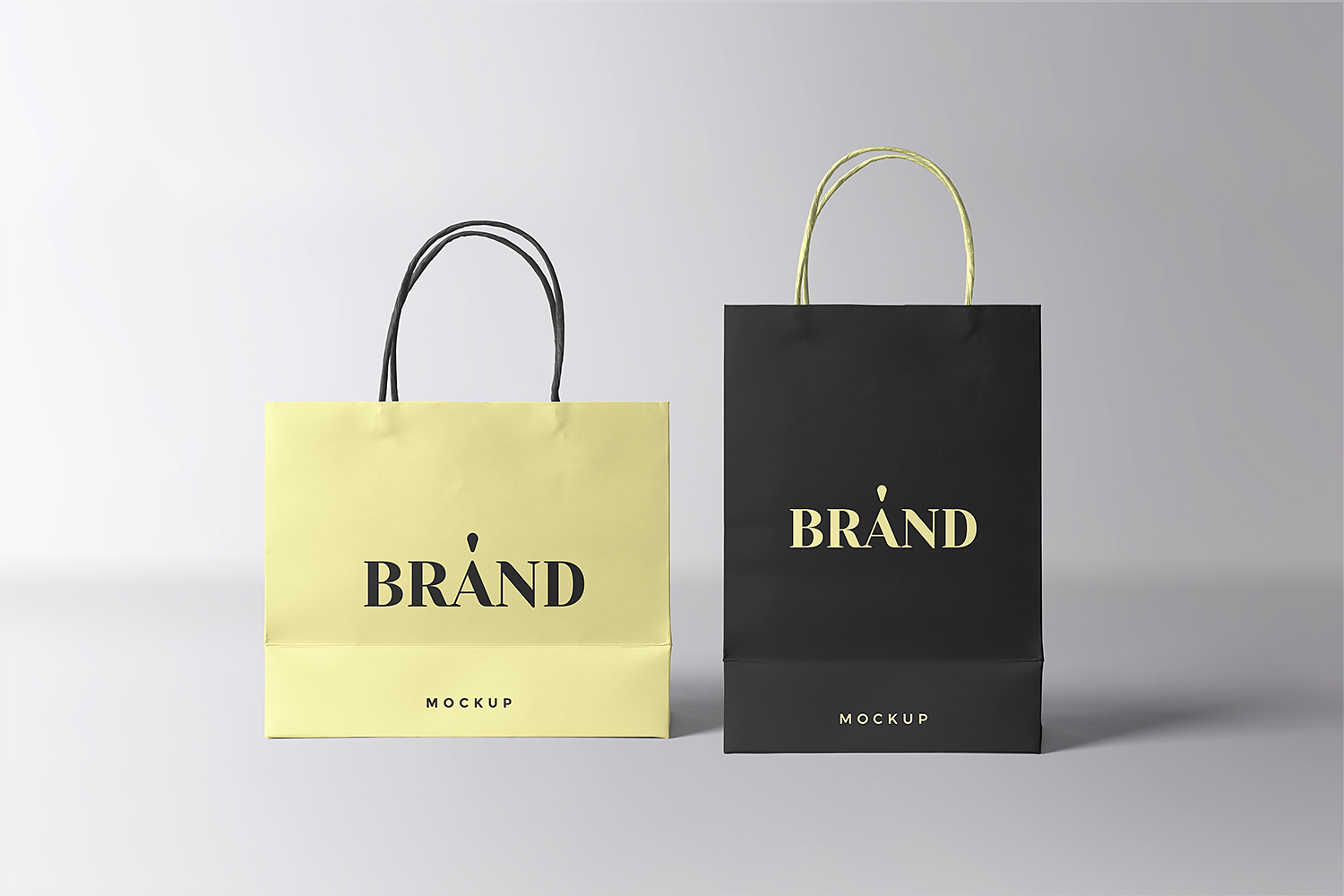 Paper Shopping Bags Mockup