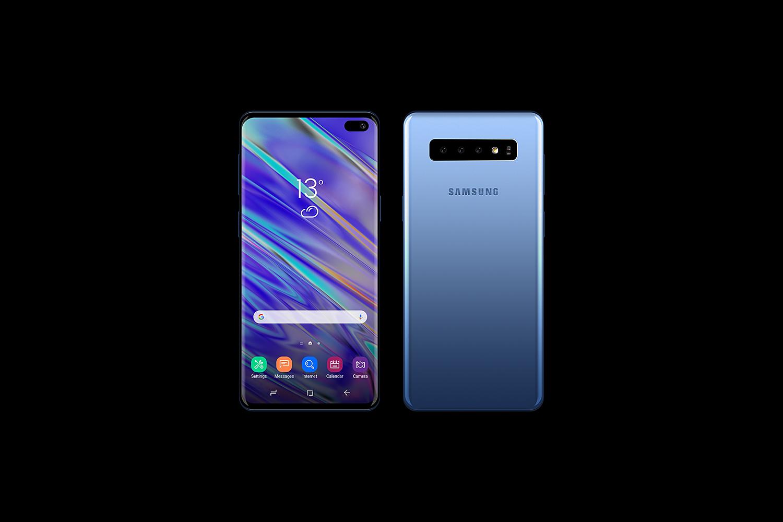 Samsung Galaxy S10 Free Mockup