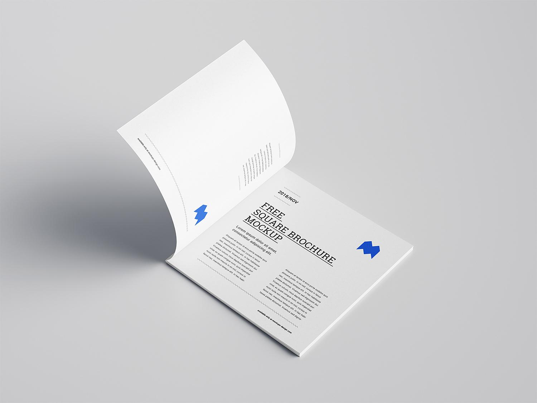 Square Brochure Free Mockup