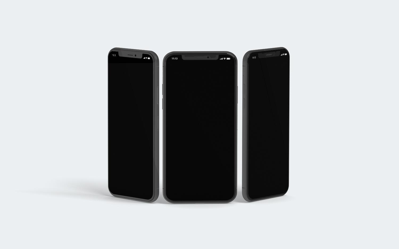 3 iPhone X Mockups