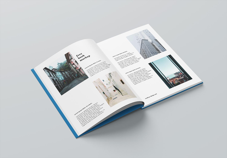 A4 Book Mockup PSD