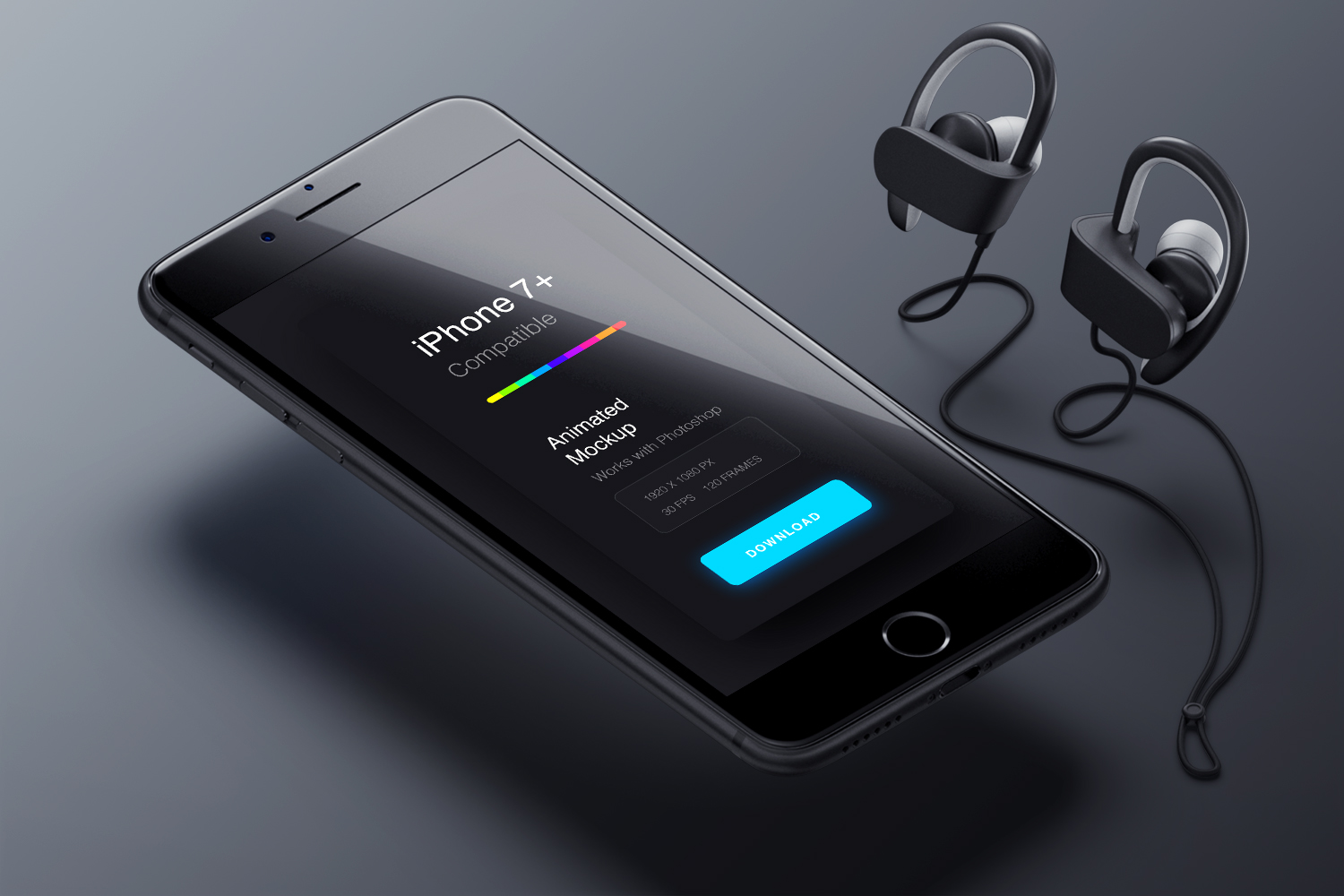 Animated iPhone 7 Mockup PSD