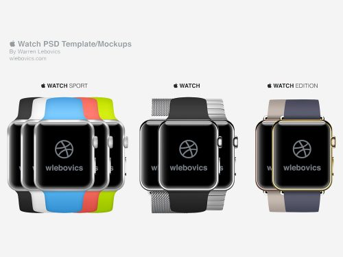 Apple Watch Models Mockup