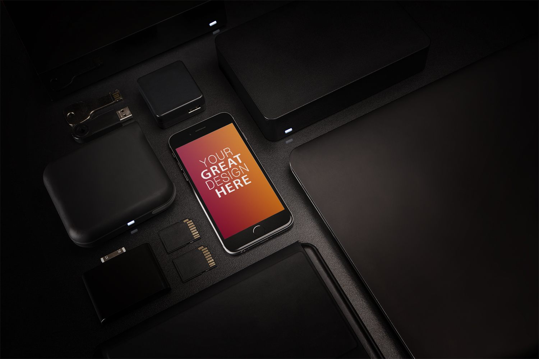 Black iPhone Storage Devices