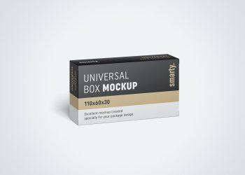 Box Packaging Free PSD Mockup