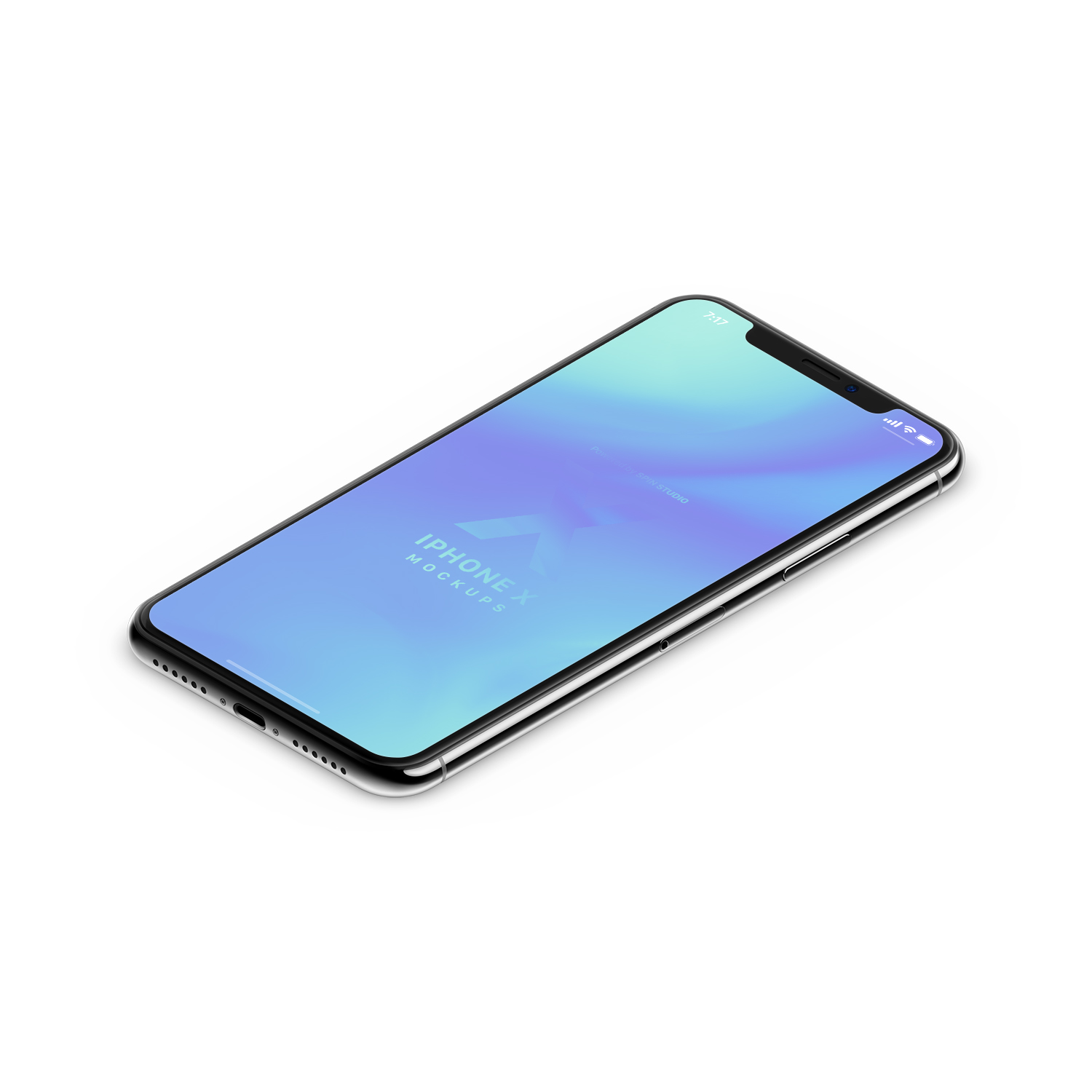 Clay Realistic iPhone X Mockup