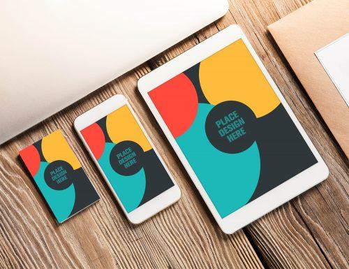 Free Business Card iPhone iPad Mockups