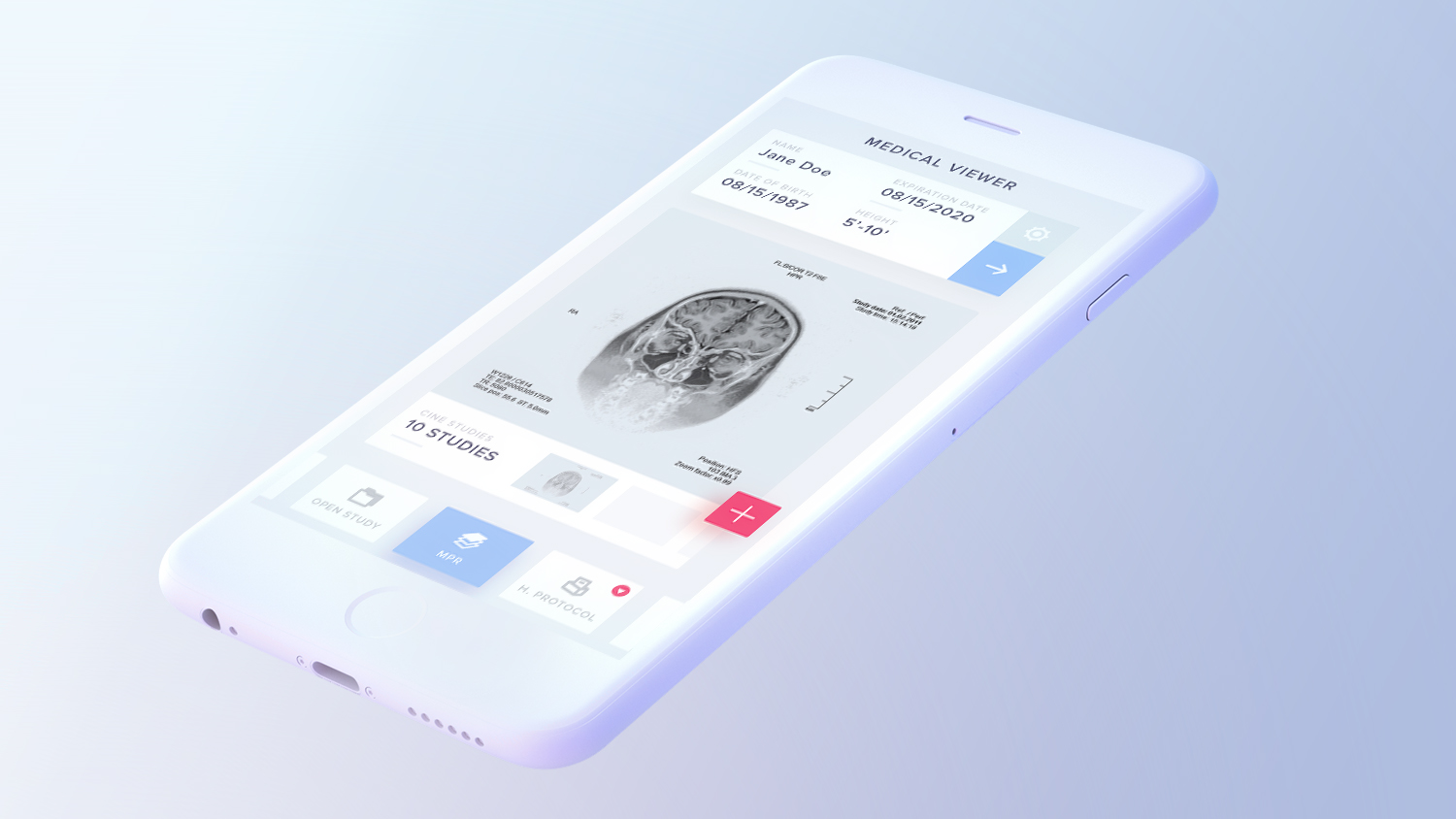 Free Light iPhone Mockup PSD